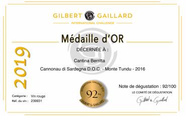 """Per la Cantina Berritta ancora quattro medaglie """"Gilbert e Gaillard""""!"""