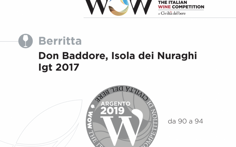 The Italian Wine Competition: è argento per il Don Baddore